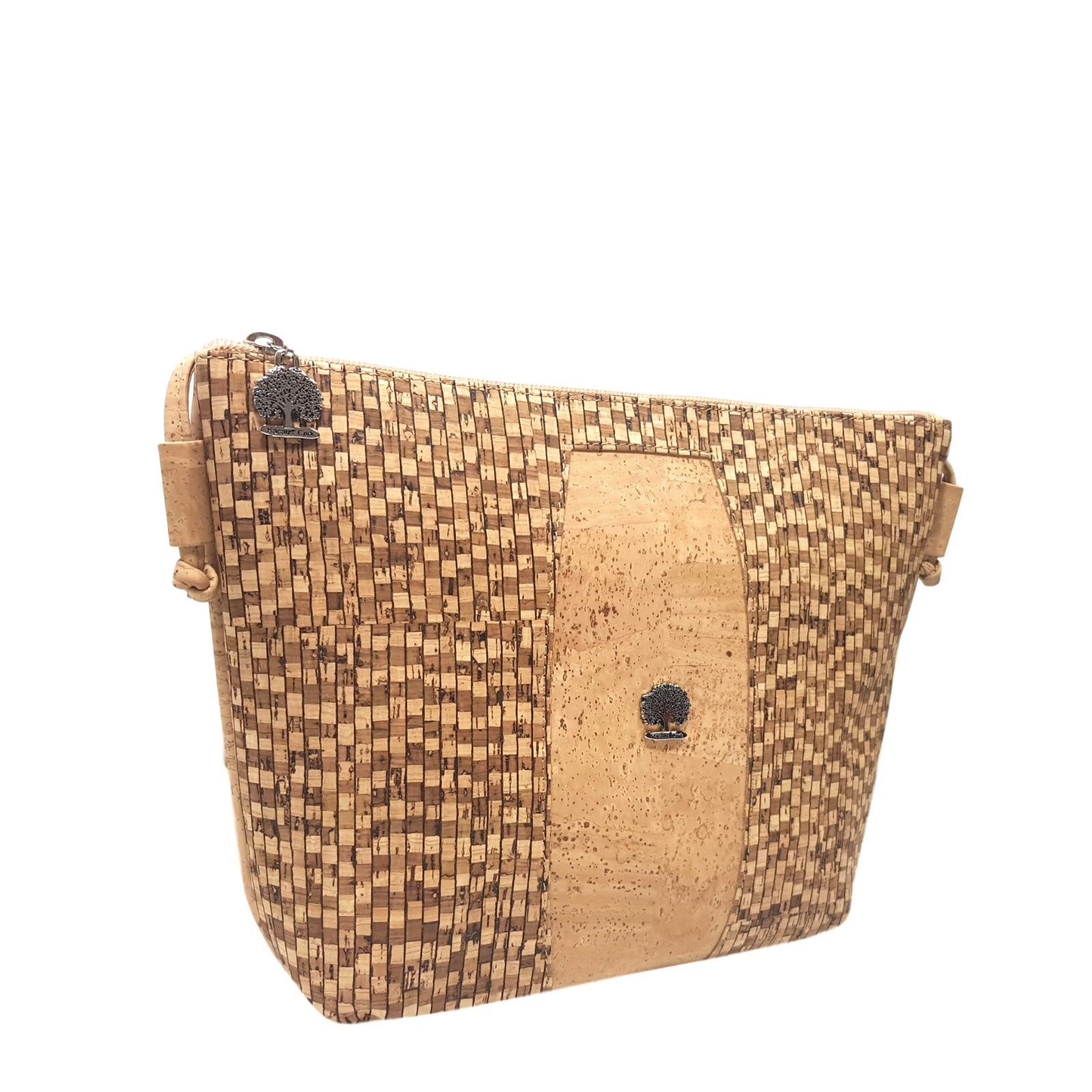Geanta crossbody natural-calcada