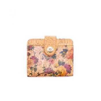 Portofel mic cu capsa magnetica - botanic