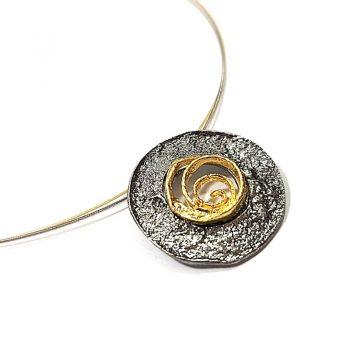Colier Spiral Rose