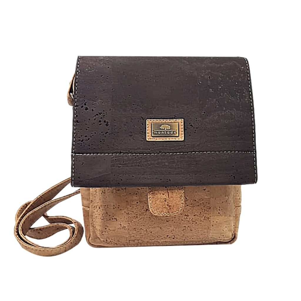 Geanta crossbody natural - maro