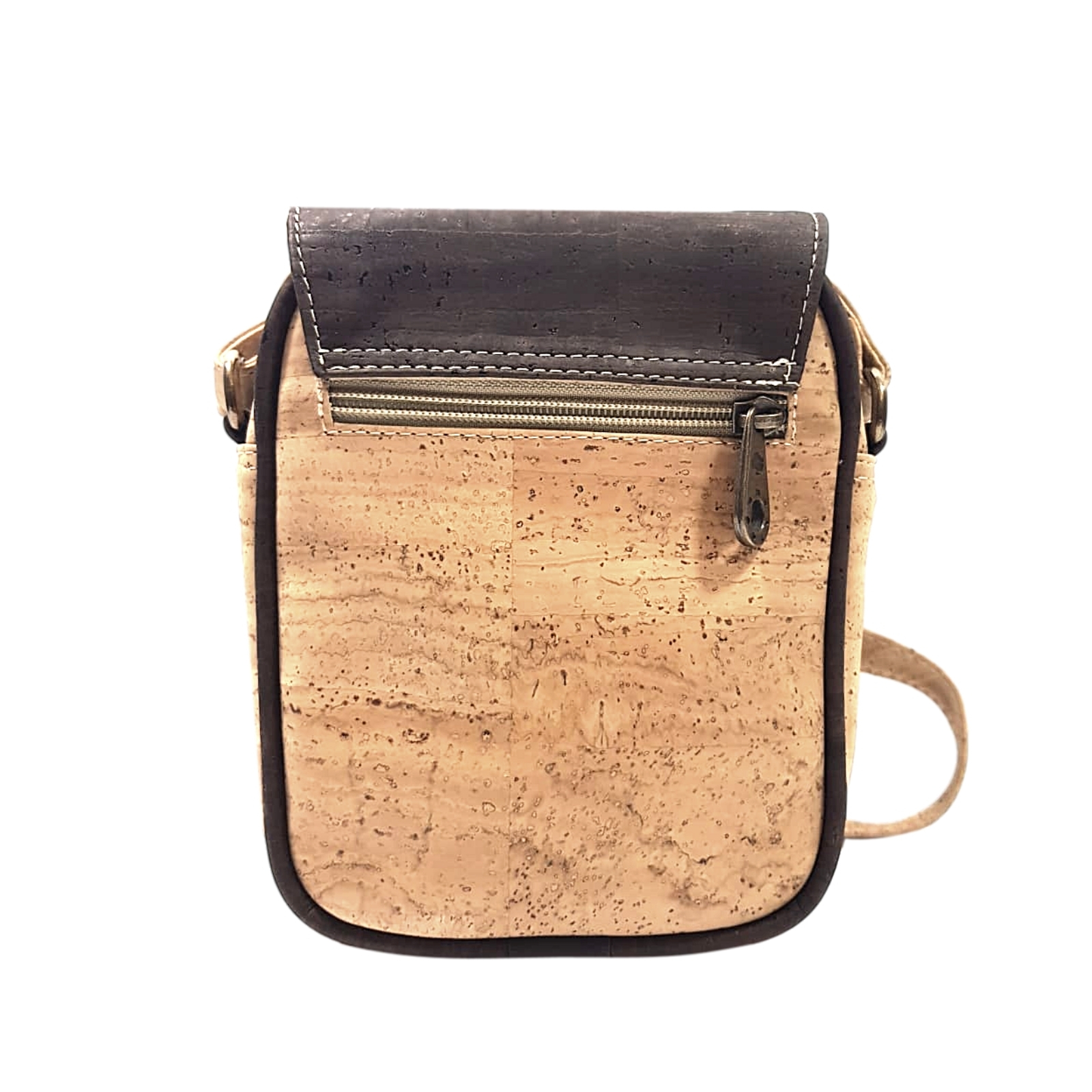 Geanta crossbody mica maro-natural