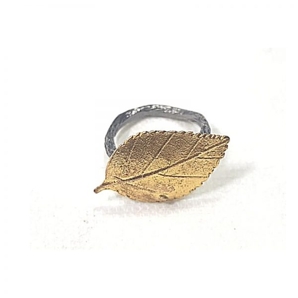 Inel reglabil Golden Leave