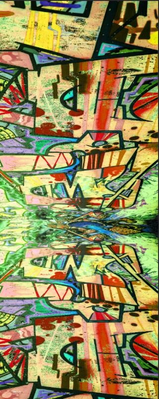 Esarfa din matase Tencel Abstract