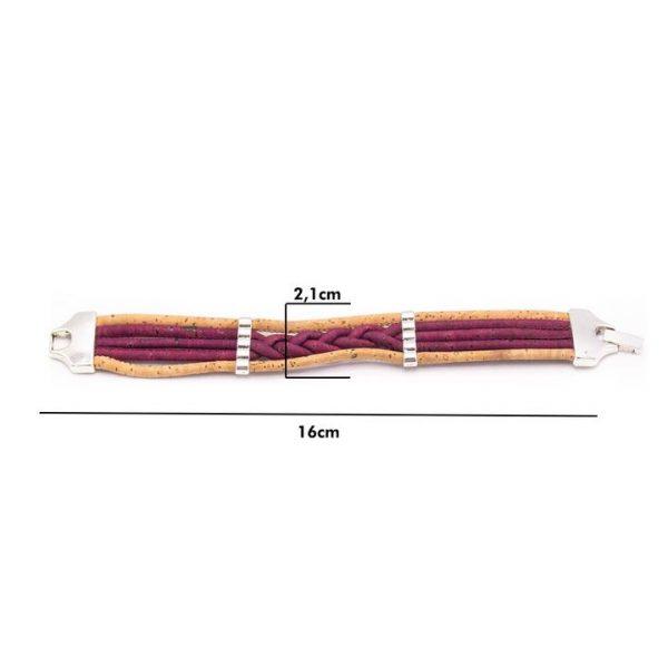 Bratara colorata cu impletitura-5