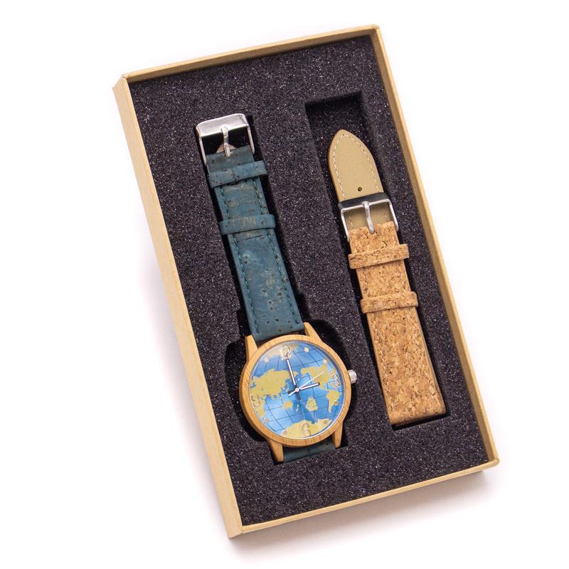 Cutie-cadou ceas Harta lumii