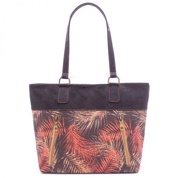 Geanta Tote negru-tropical