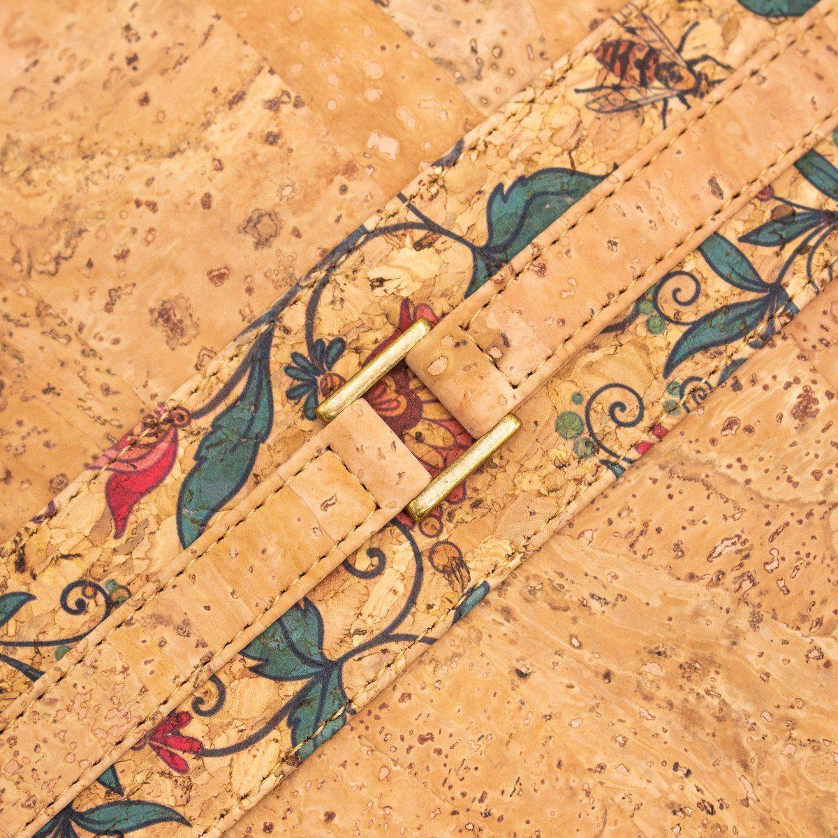 Geanta de mana cu detalii florale