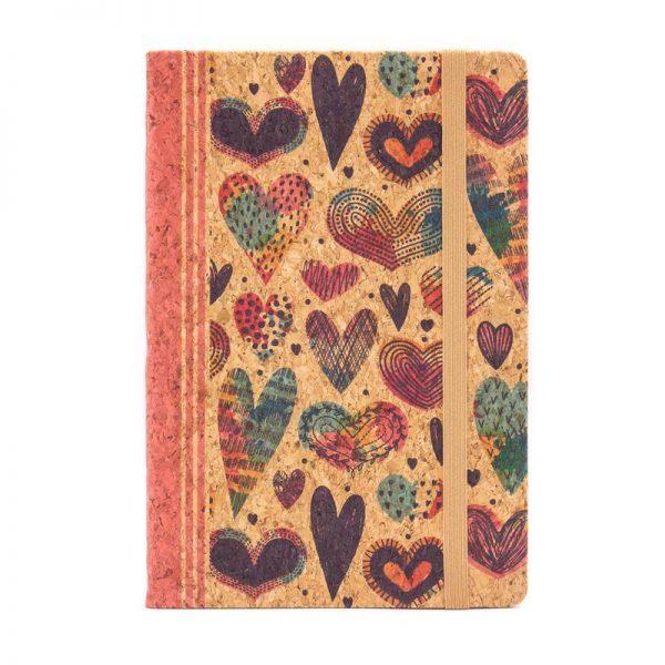 Notebook cu coperti din pluta1