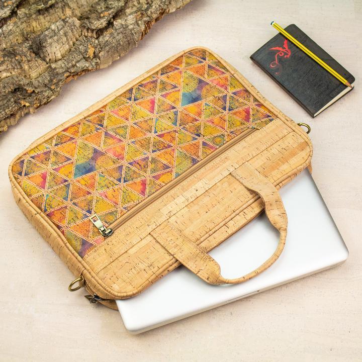 Servieta de laptop natural-multicolor