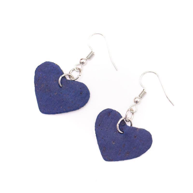 Cercei inimioare albastre