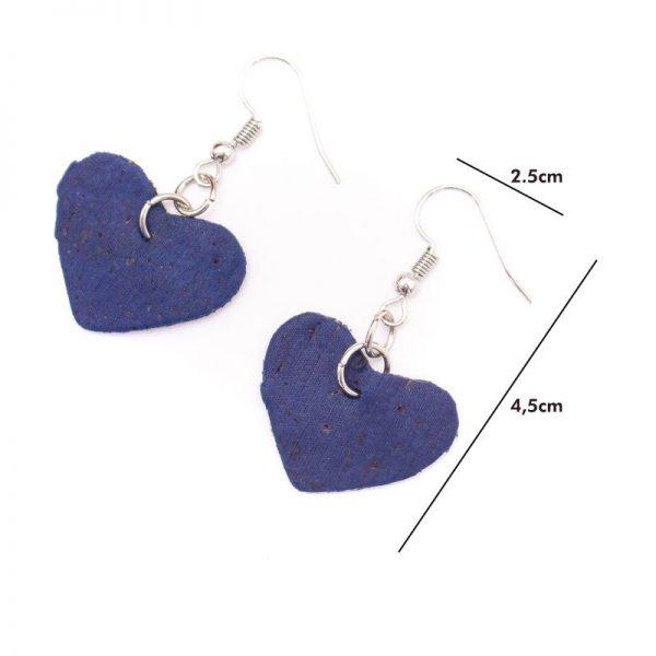 Cercei inimioare albastre1