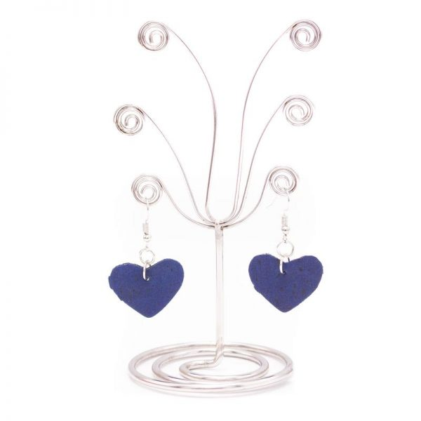 Cercei inimioare albastre3