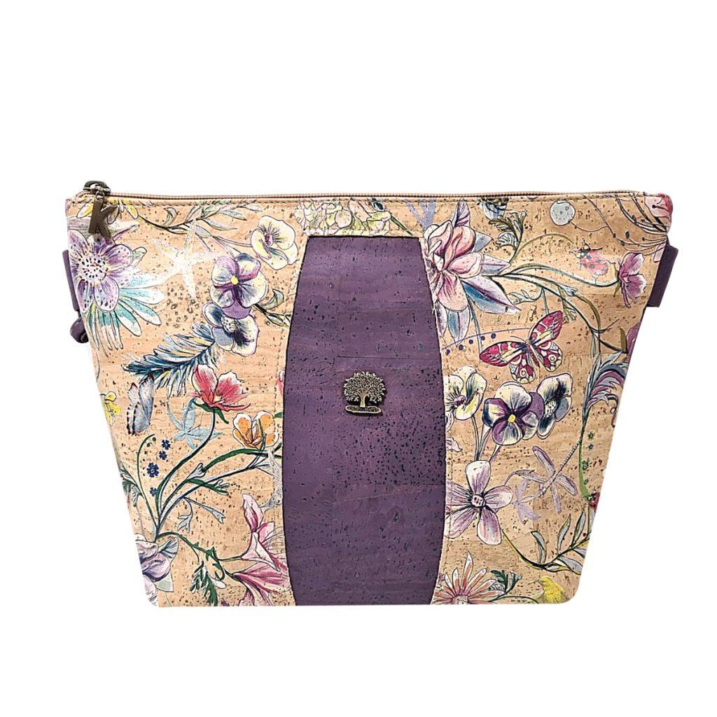 Geanta crossbody violet-floral