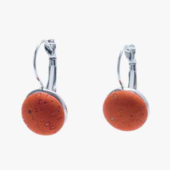 Cercei rotunzi scurti - portocaliu