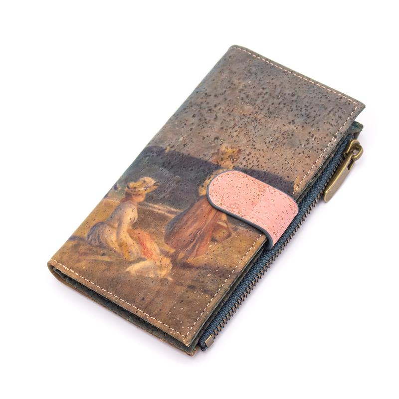 Portofel RFID Renoir cu clapa roz