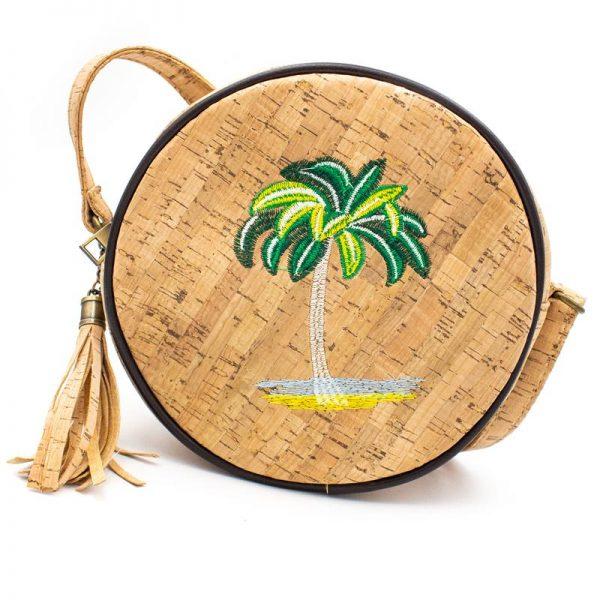 Geanta crossbody rotunda - palmier