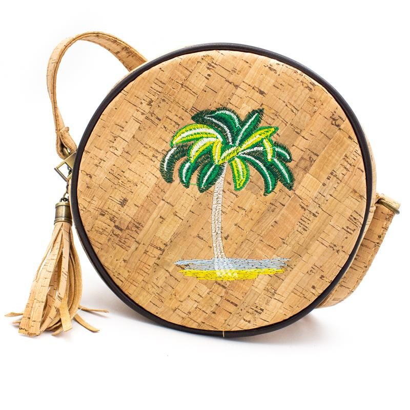 Geanta crossbody rotunda - palmier