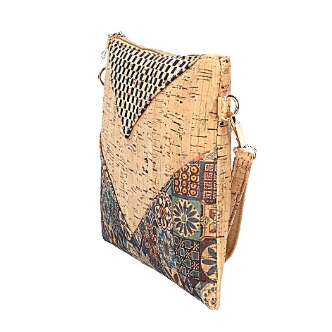 Geanta-plic cu imprimeu si perforatie