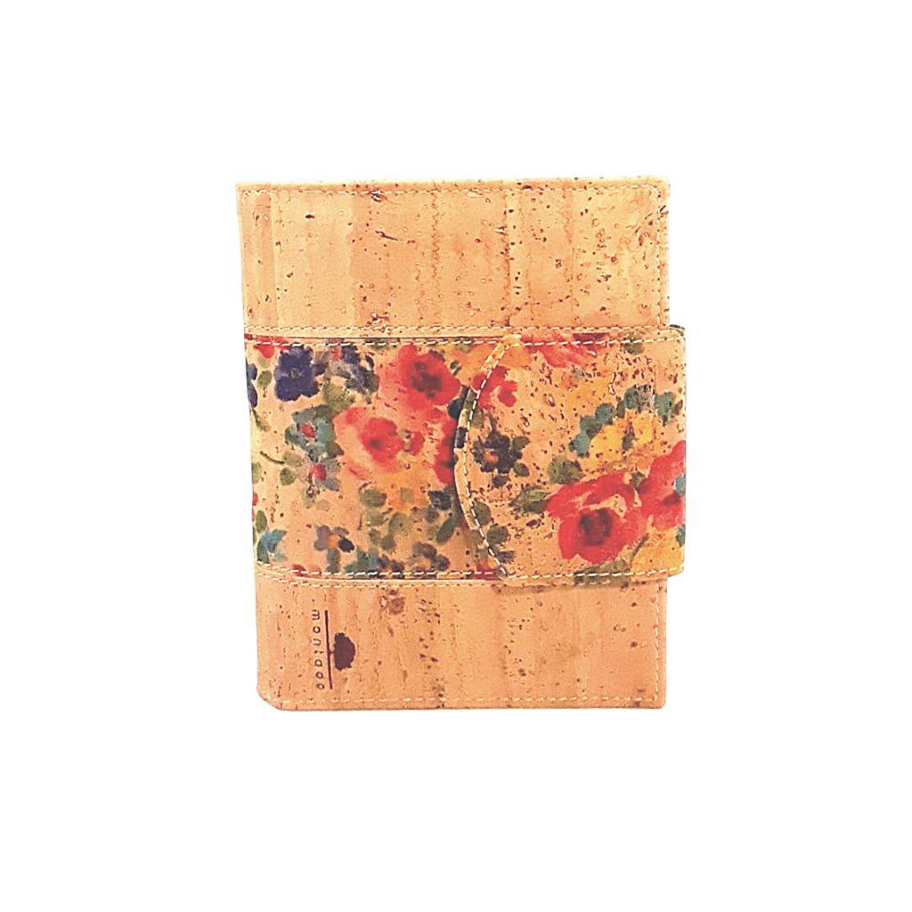 Portofel dublu pentru carduri si documente - floral