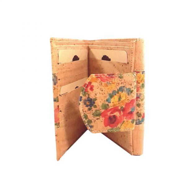 Portofel dublu pentru carduri si documente - floral2