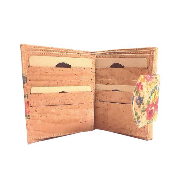 Portofel dublu pentru carduri si documente - floral4