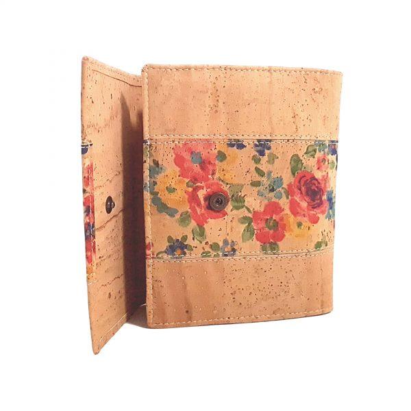Portofel dublu pentru carduri si documente - floral5