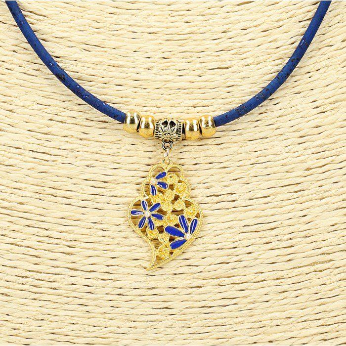 Colier Viana albastru-auriu