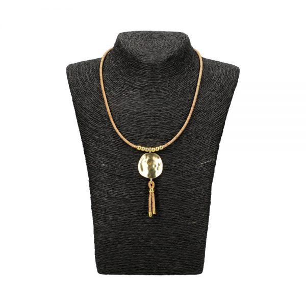Colier cu medalion auriu