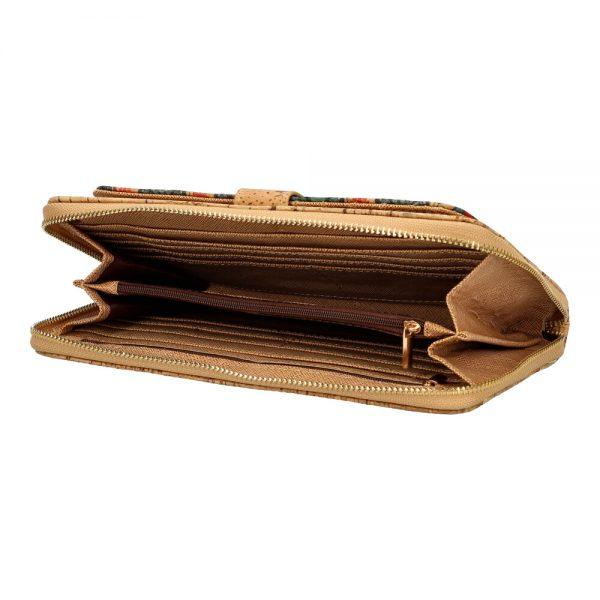 Portofel mare cu clapa si capsa a