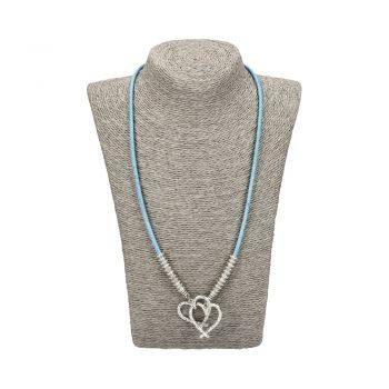 Colier Hearts - albastru
