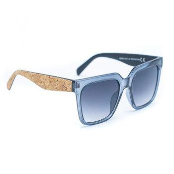 Ochelari de soare cu brate si toc din pluta 2